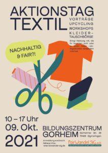 Aktionstag - Textilien nachhaltig und fair? @ Bildungszentrum Gorheim